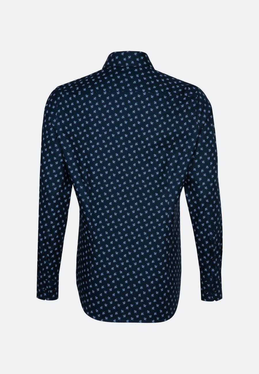 Oxfordhemd in Slim mit Kentkragen und extra langem Arm in Dunkelblau |  Seidensticker Onlineshop