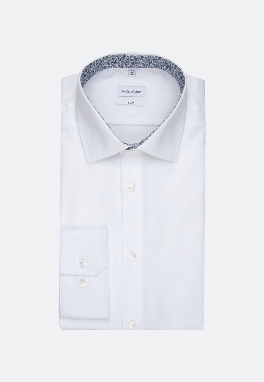 Non-iron Oxford Business Shirt in Slim with Kent-Collar in White    Seidensticker Onlineshop