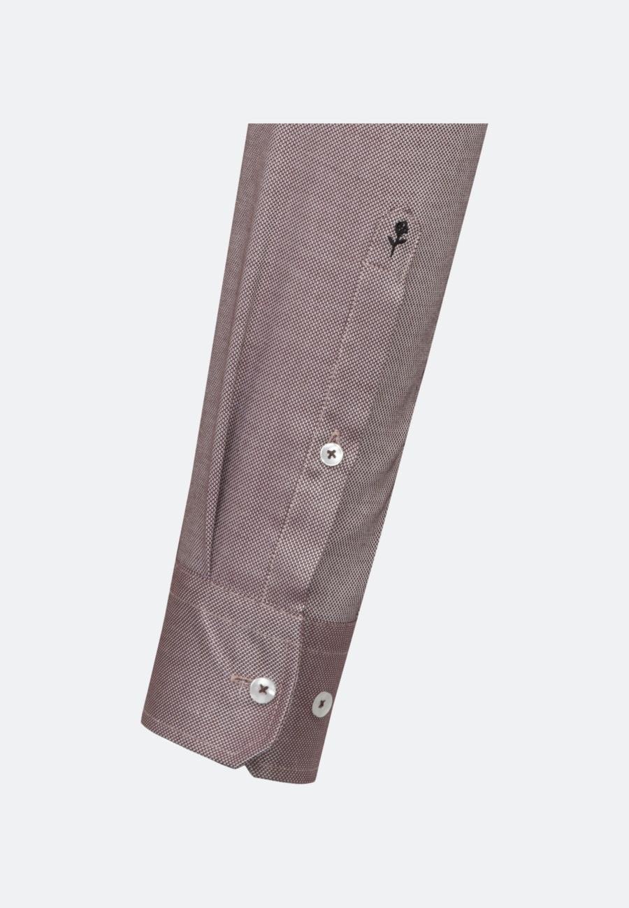 Non-iron Structure Business Shirt in Slim with Kent-Collar in Red |  Seidensticker Onlineshop