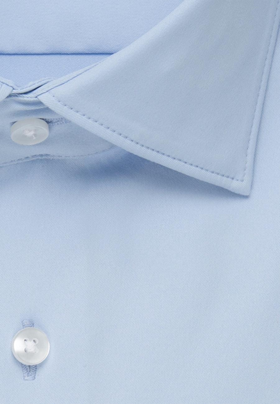 Twill Business Hemd in Shaped mit Kentkragen in Hellblau    Seidensticker Onlineshop