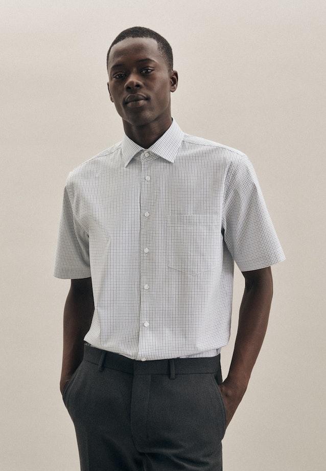 Bügelfreies Oxford Kurzarm Business Hemd in Regular mit Kentkragen in Grün |  Seidensticker Onlineshop