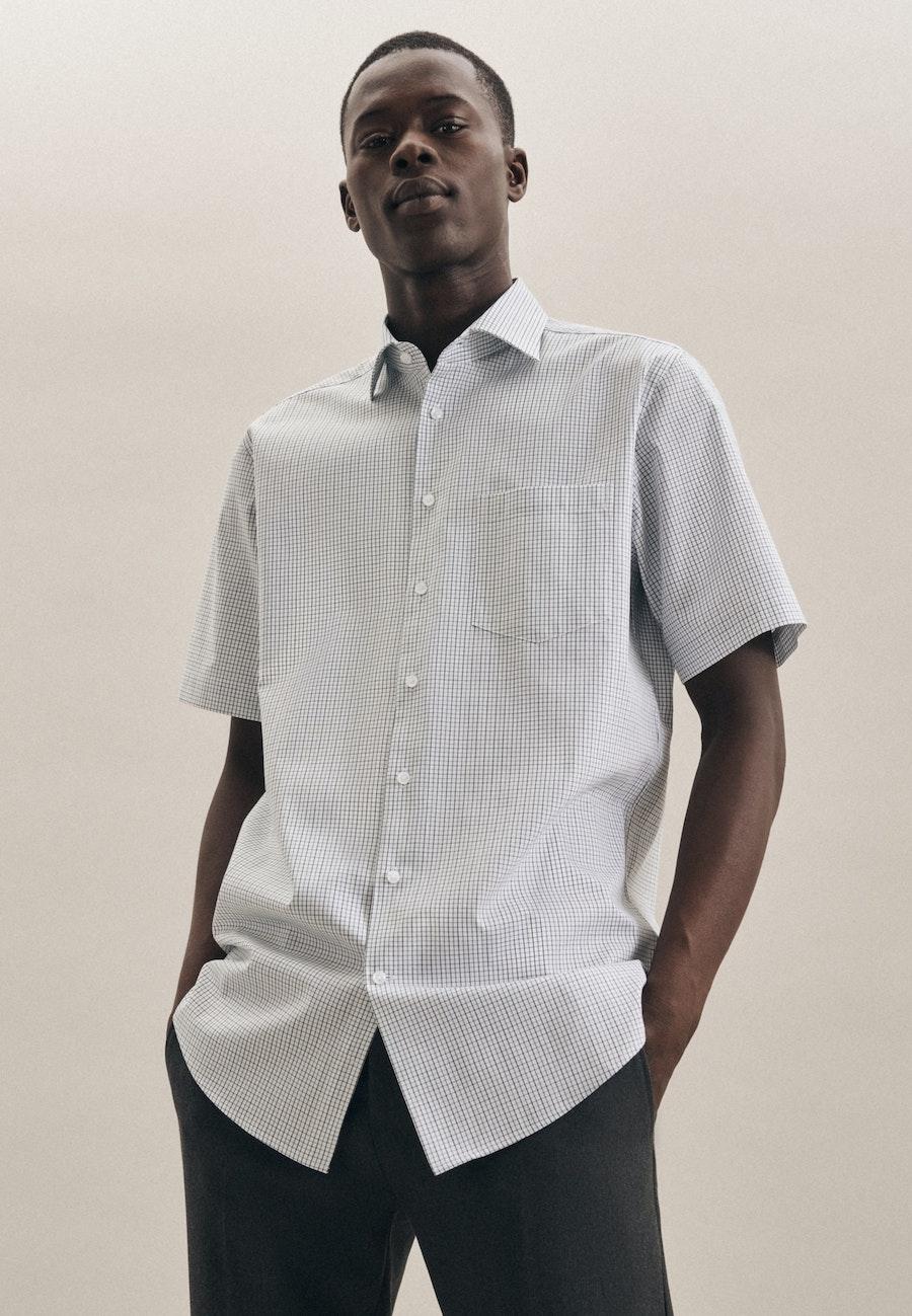 Bügelfreies Kurzarm Oxfordhemd in Regular mit Kentkragen in Grün |  Seidensticker Onlineshop