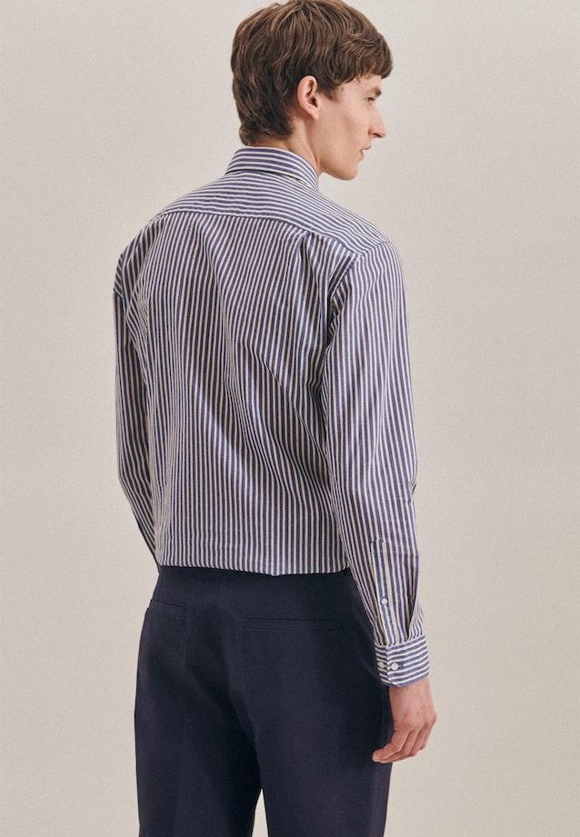 Non-iron Leinen Business Shirt in Regular with Kent-Collar in Medium blue |  Seidensticker Onlineshop
