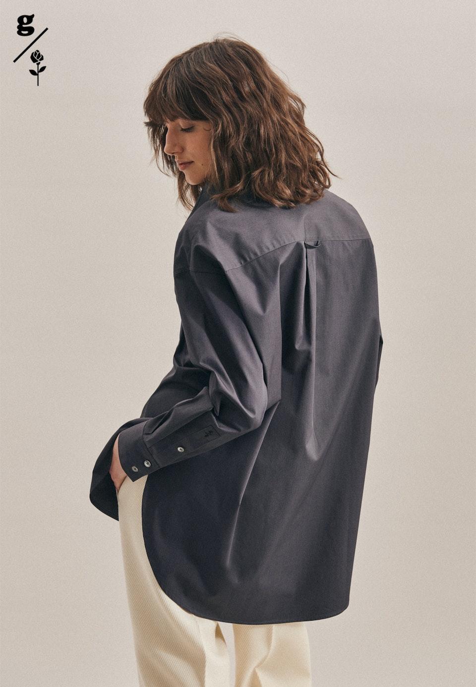 Twill Long Blouse made of 100% Cotton in Grey    Seidensticker Onlineshop