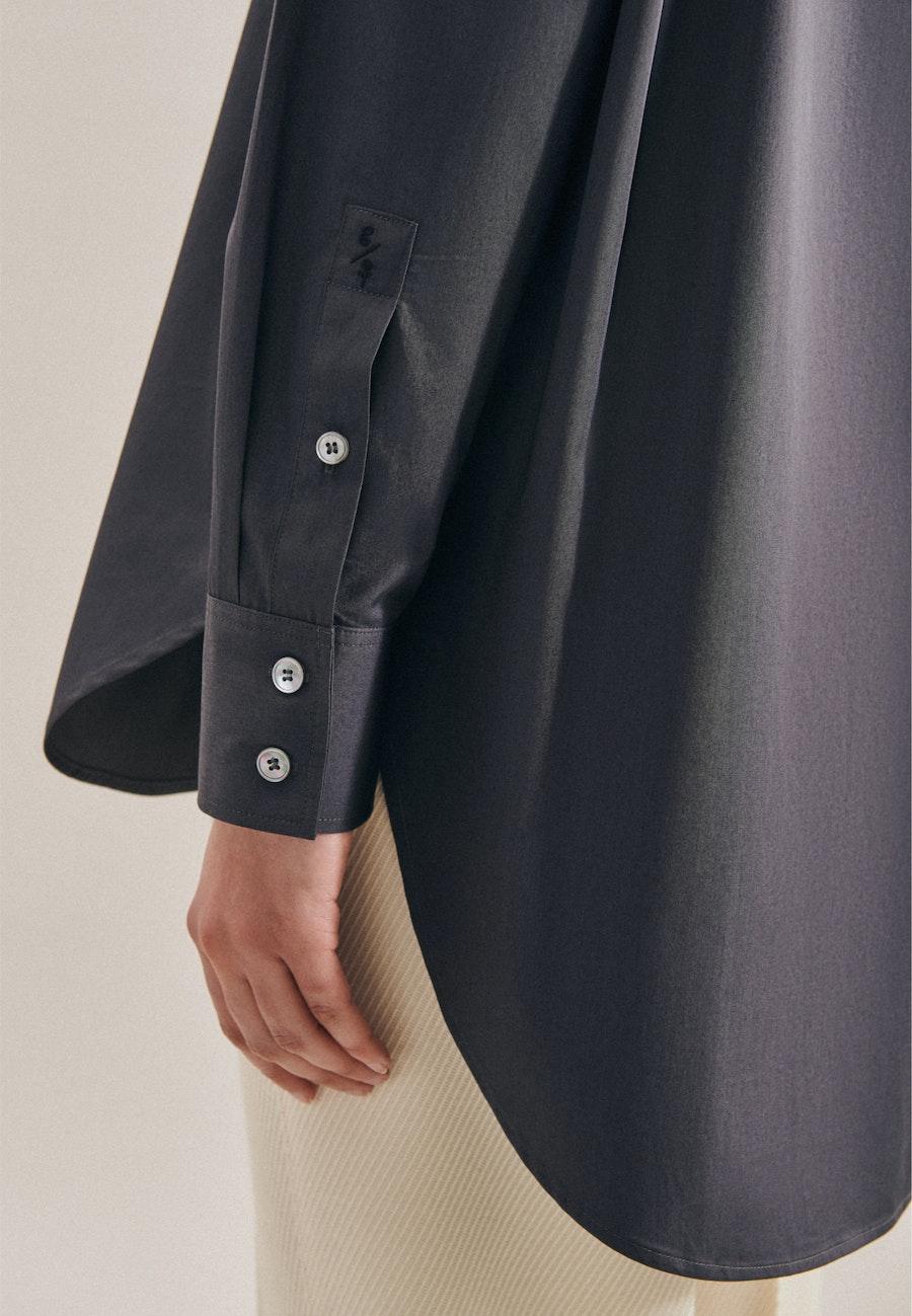 Twill Longbluse aus 100% Baumwolle in Grau |  Seidensticker Onlineshop