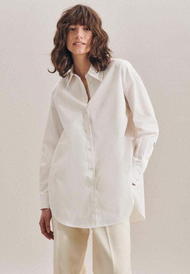 Twill Hemdbluse aus 100% Baumwolle in Ecru |  Seidensticker Onlineshop