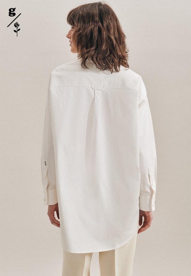 Twill Longbluse aus 100% Baumwolle in Ecru |  Seidensticker Onlineshop