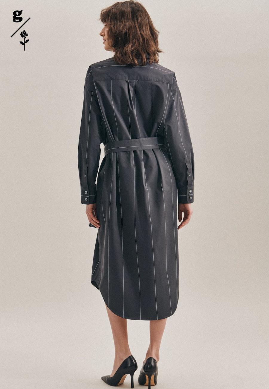 Twill Maxi Kleid aus 100% Baumwolle in Grau |  Seidensticker Onlineshop