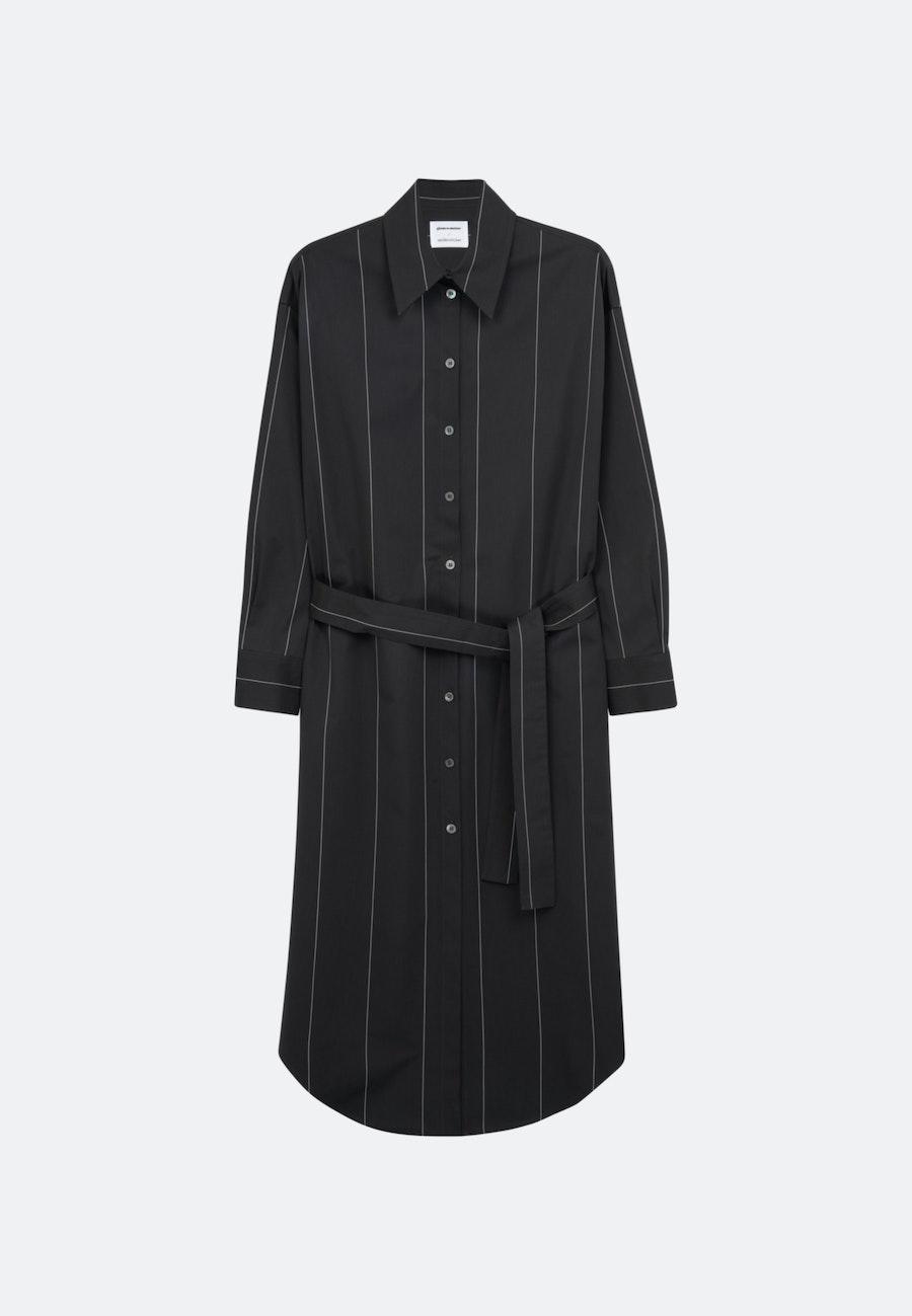 Twill Maxi Dress made of 100% Cotton in Grey |  Seidensticker Onlineshop