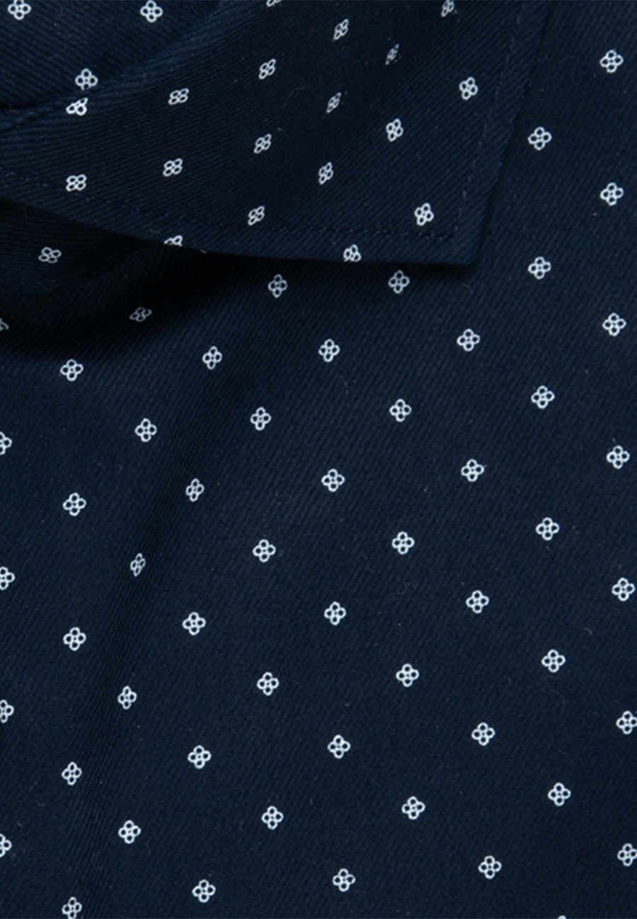 Easy-iron Twill Short sleeve Business Shirt in Regular with Kent-Collar in Dark blue |  Seidensticker Onlineshop