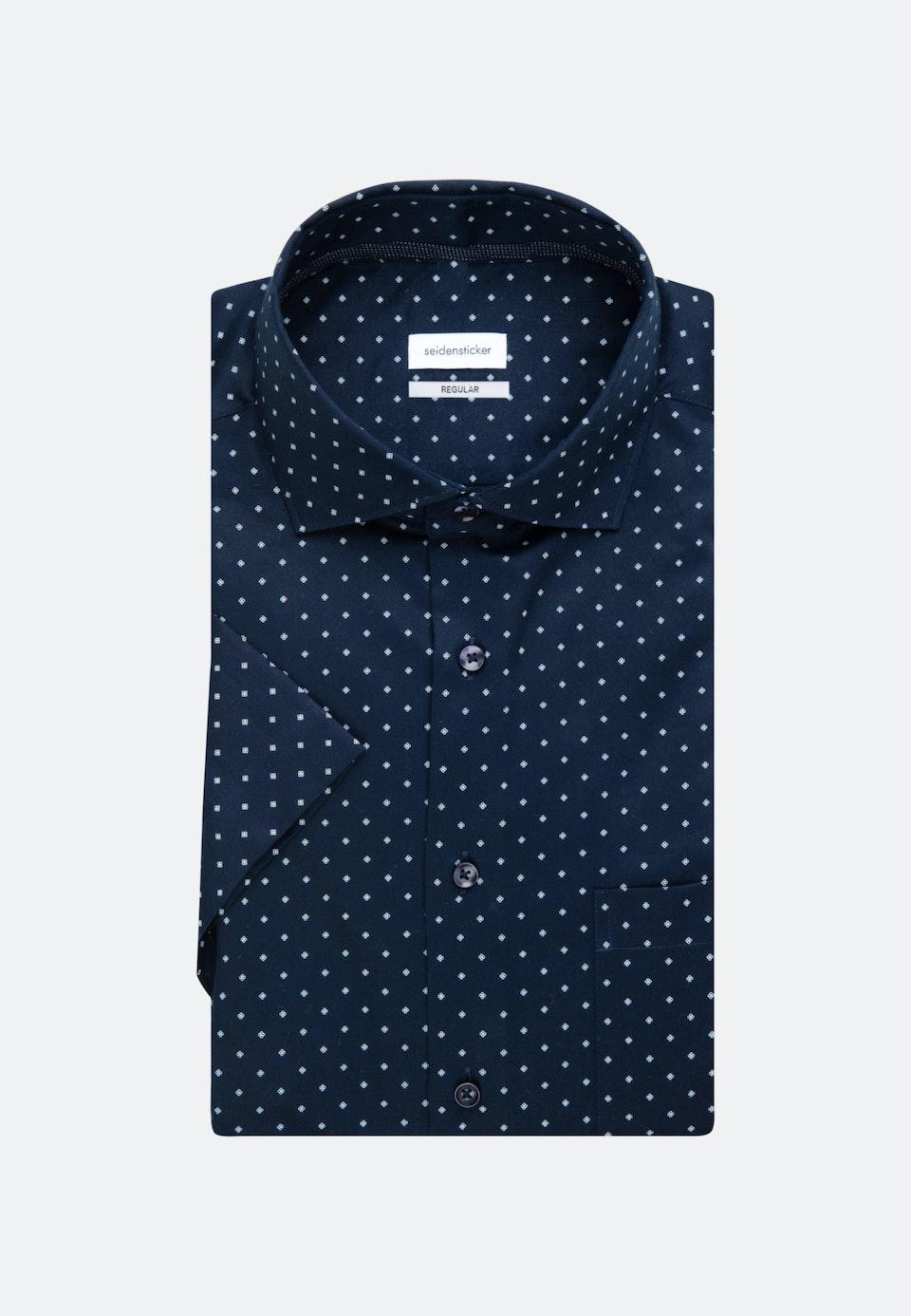 Twill Kurzarm Business Hemd in Regular mit Kentkragen in Dunkelblau    Seidensticker Onlineshop
