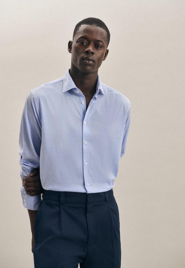 Jersey Business Shirt in Shaped with Kent-Collar in Light blue |  Seidensticker Onlineshop