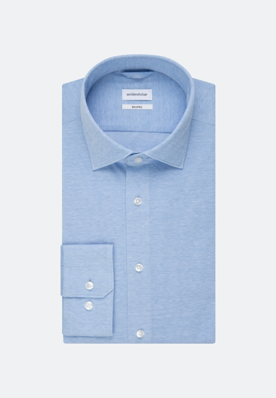 Jersey Business Shirt in Shaped with Kent-Collar in Light blue    Seidensticker Onlineshop