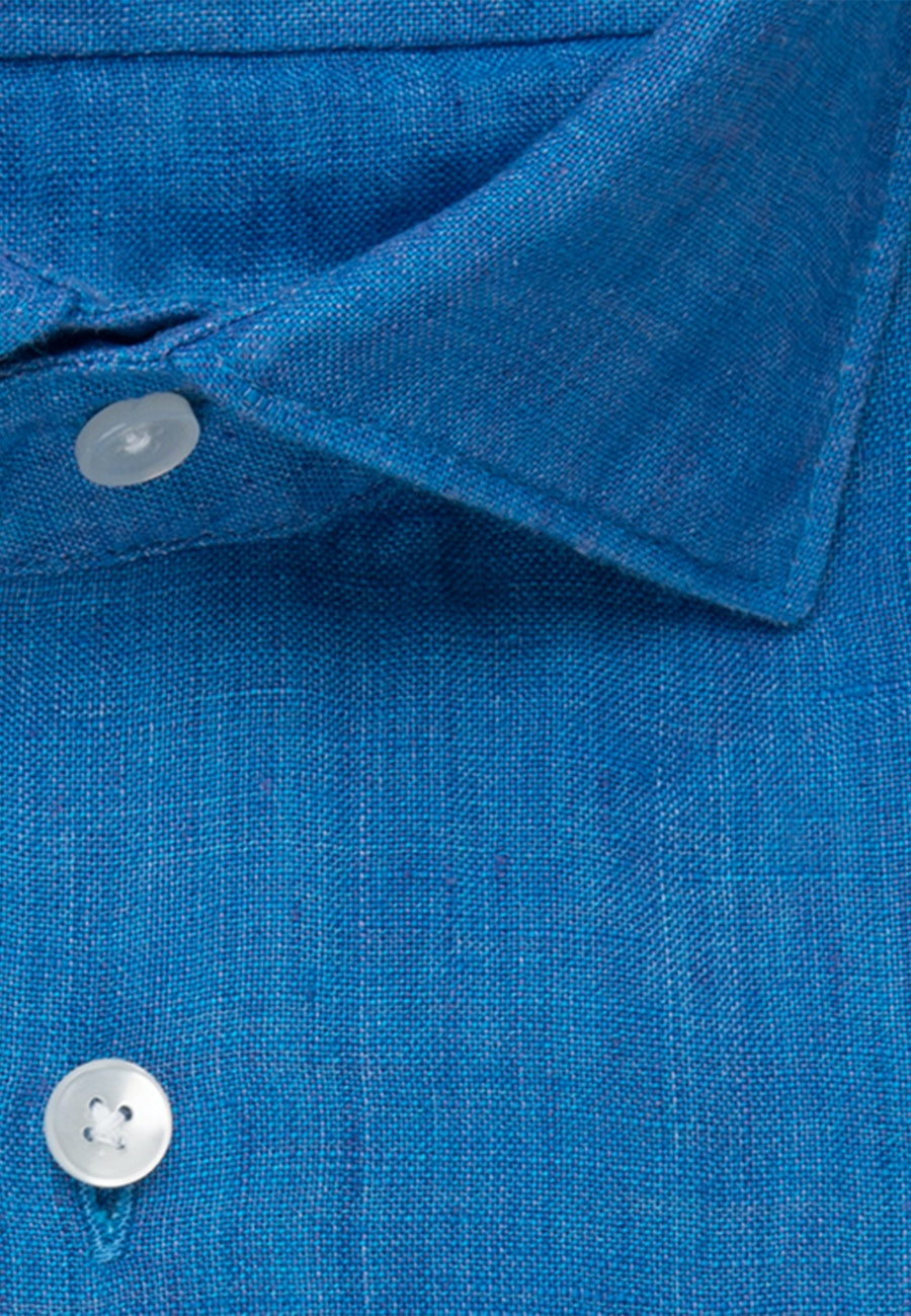 Linen Linen shirt in Regular with Kent-Collar in Turquoise |  Seidensticker Onlineshop