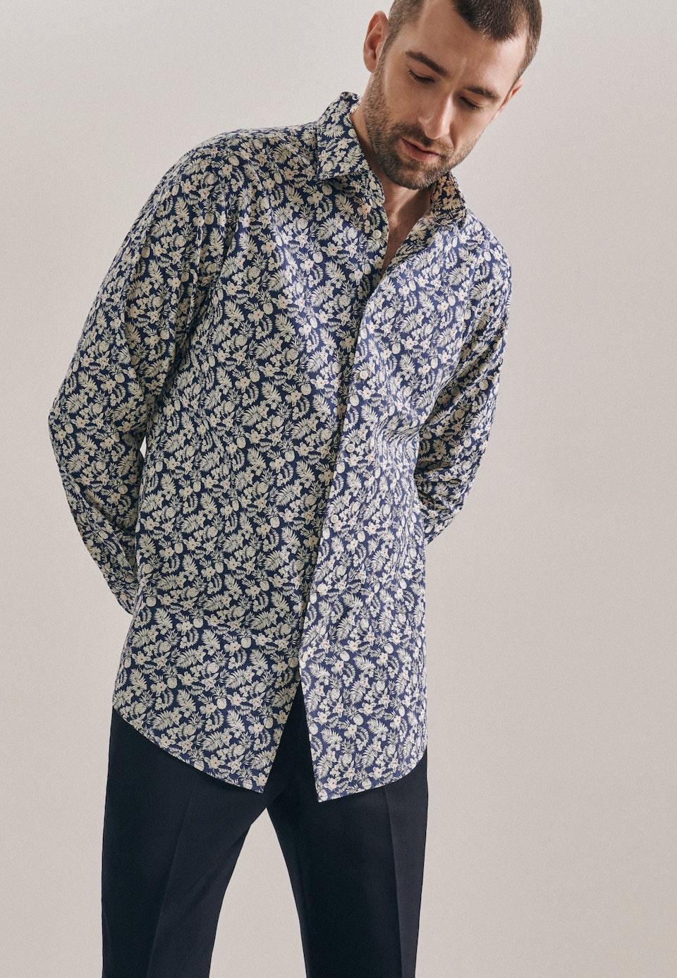 Easy-iron Leinen Business Shirt in Regular with Kent-Collar in Brown |  Seidensticker Onlineshop