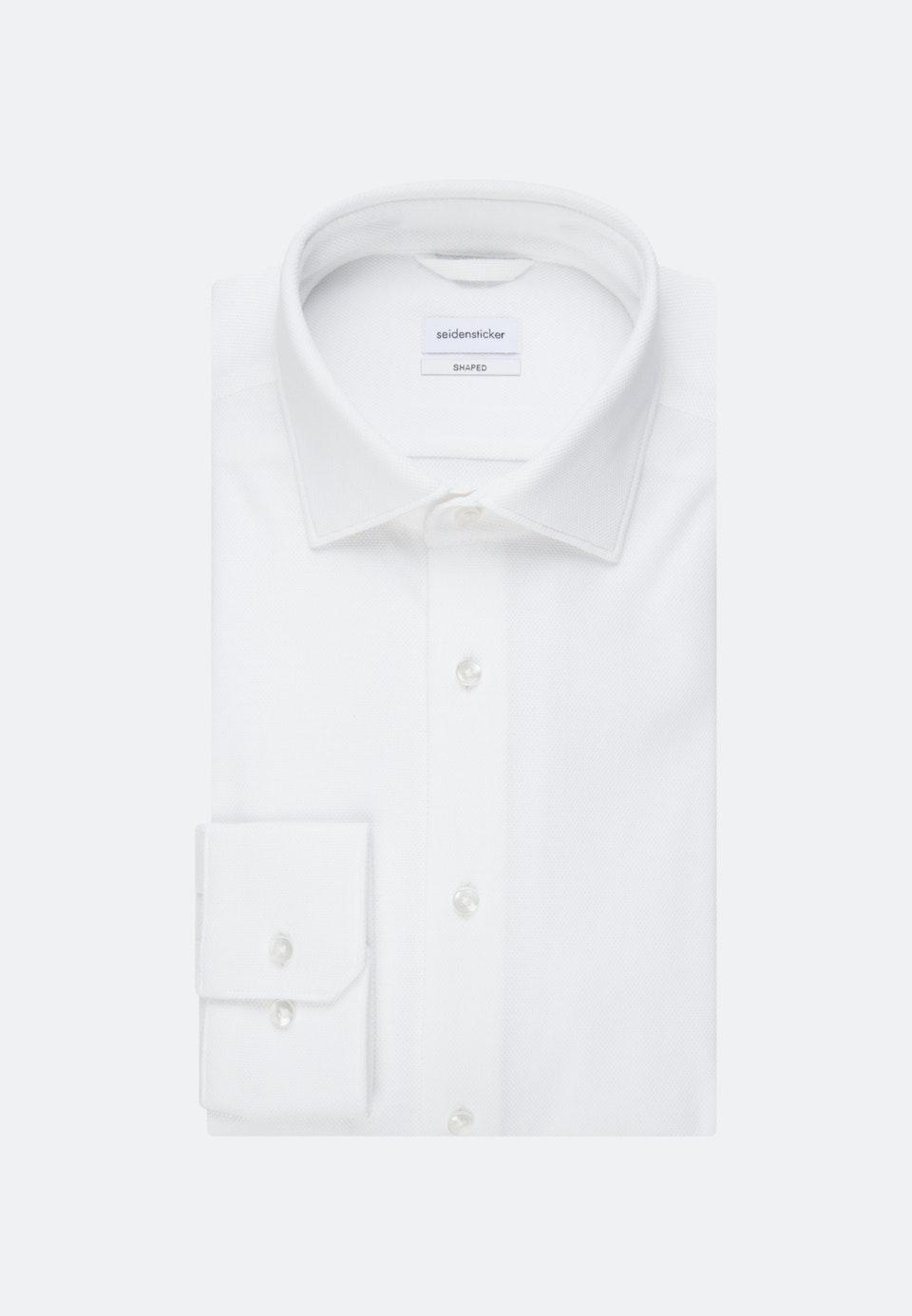 Jerseyhemd in Shaped mit Kentkragen in Weiß |  Seidensticker Onlineshop