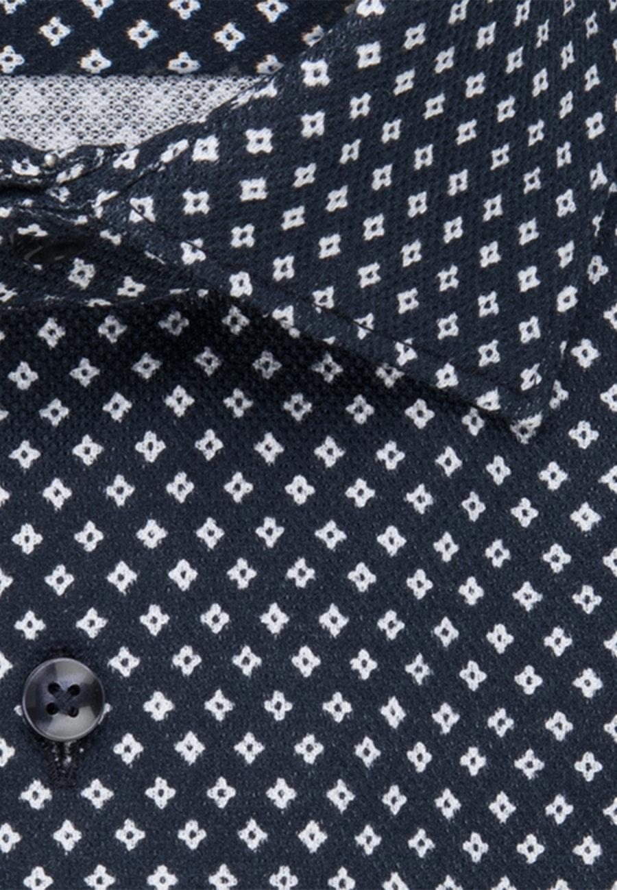 Jersey Business Hemd in Shaped mit Kentkragen in Dunkelblau |  Seidensticker Onlineshop