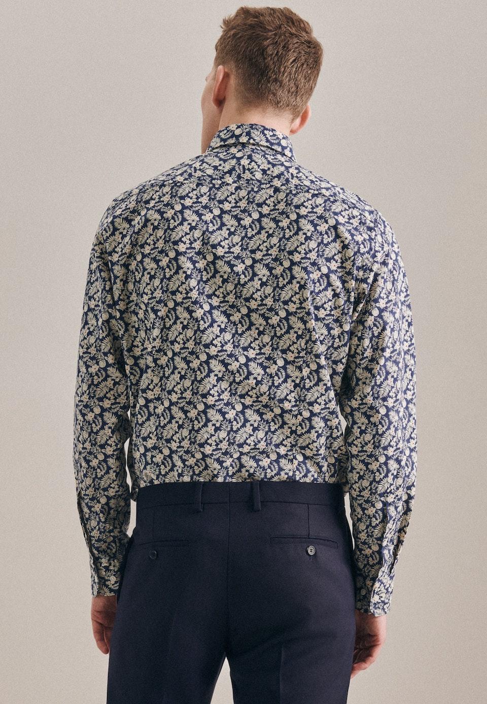 Linen Linen shirt in Shaped with Kent-Collar in Brown    Seidensticker Onlineshop