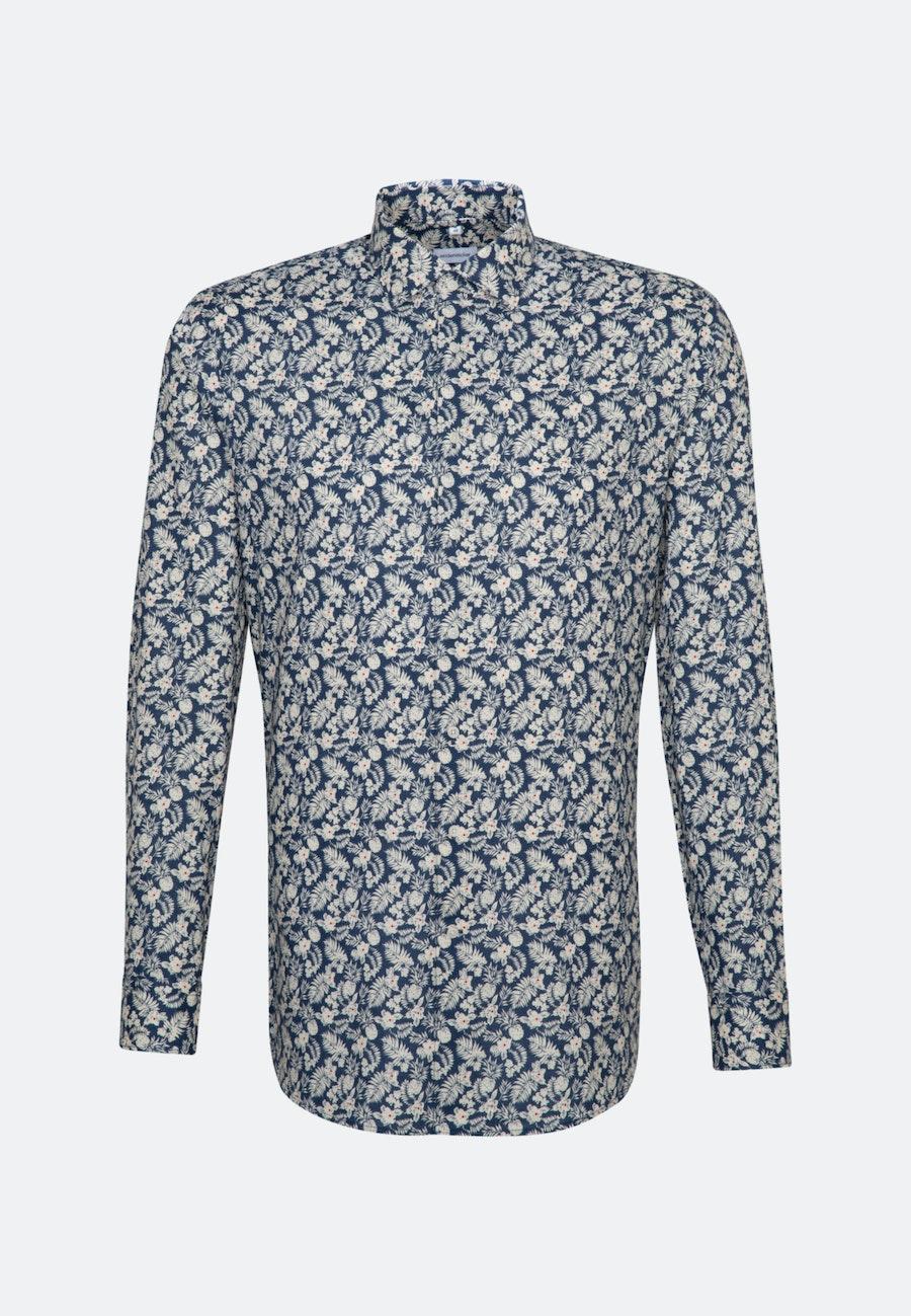 Easy-iron Leinen Business Shirt in Shaped with Kent-Collar in Brown |  Seidensticker Onlineshop