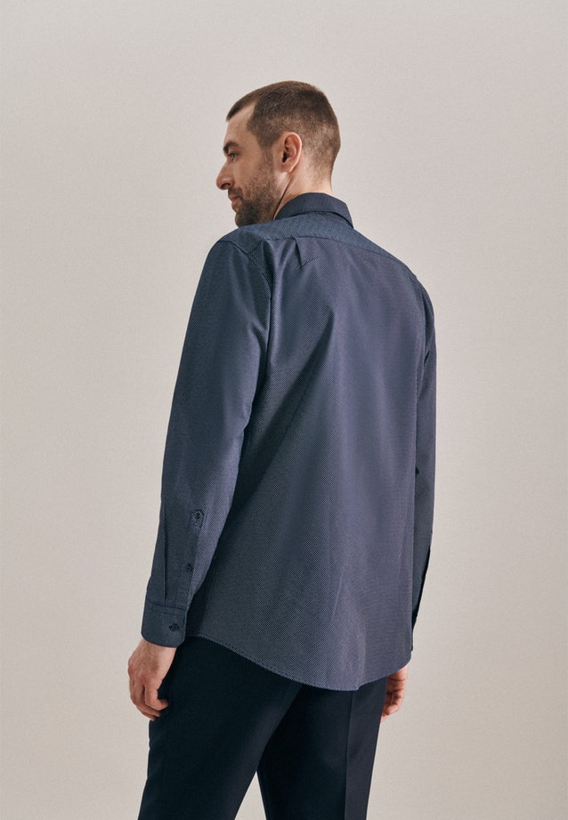Easy-iron Oxford Business Shirt in Regular with Kent-Collar in Dark blue |  Seidensticker Onlineshop