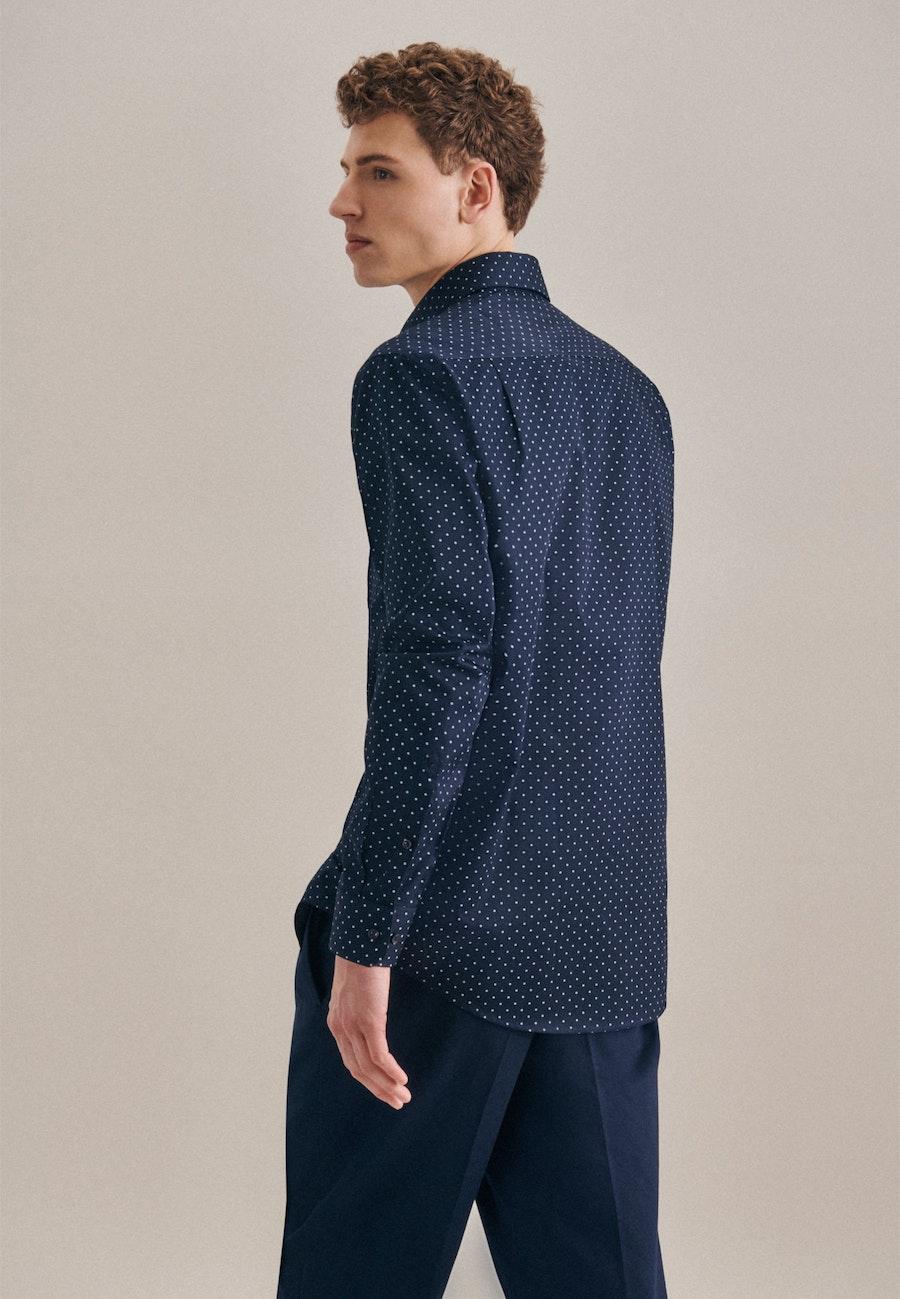 Twill Business Shirt in Regular with Kent-Collar in Dark blue |  Seidensticker Onlineshop