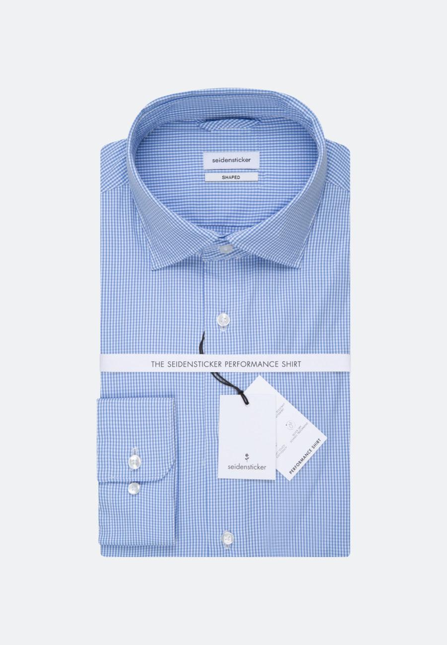 Bügelleichtes Performancehemd in Shaped mit Kentkragen in Hellblau    Seidensticker Onlineshop