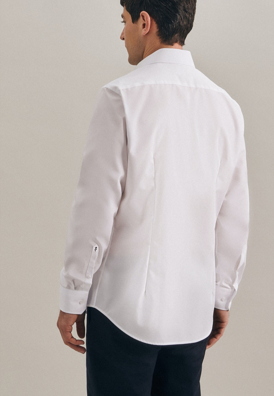 Non-iron Structure Business Shirt in Slim with Kent-Collar in White |  Seidensticker Onlineshop