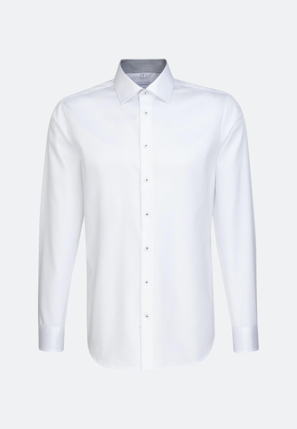 Easy-iron Twill Business Shirt in Slim with Kent-Collar in White |  Seidensticker Onlineshop