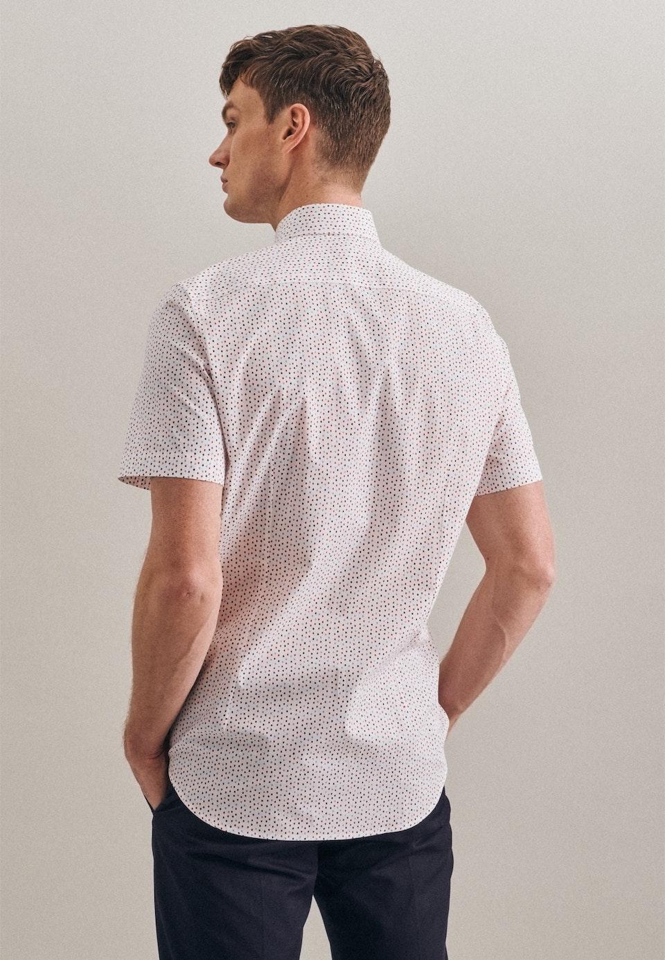 Popeline Kurzarm Business Hemd in Slim mit Kentkragen in Rot    Seidensticker Onlineshop