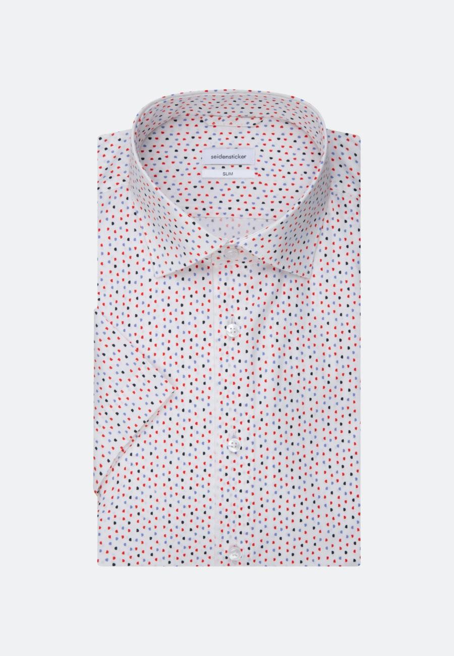 Easy-iron Poplin Short sleeve Business Shirt in Slim with Kent-Collar in Red |  Seidensticker Onlineshop