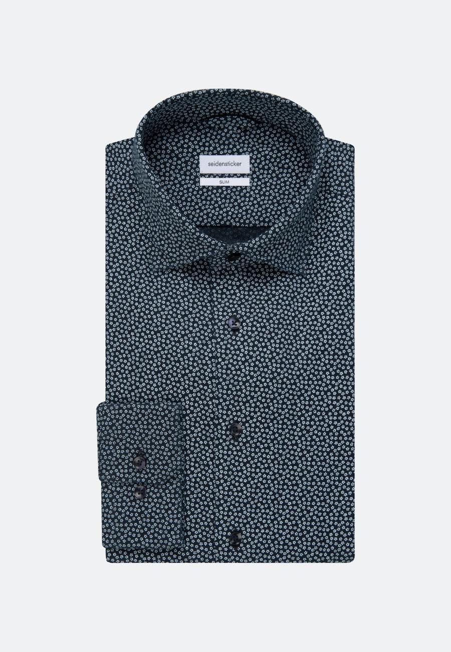 Linen Linen shirt in Slim with Kent-Collar in Dark blue |  Seidensticker Onlineshop