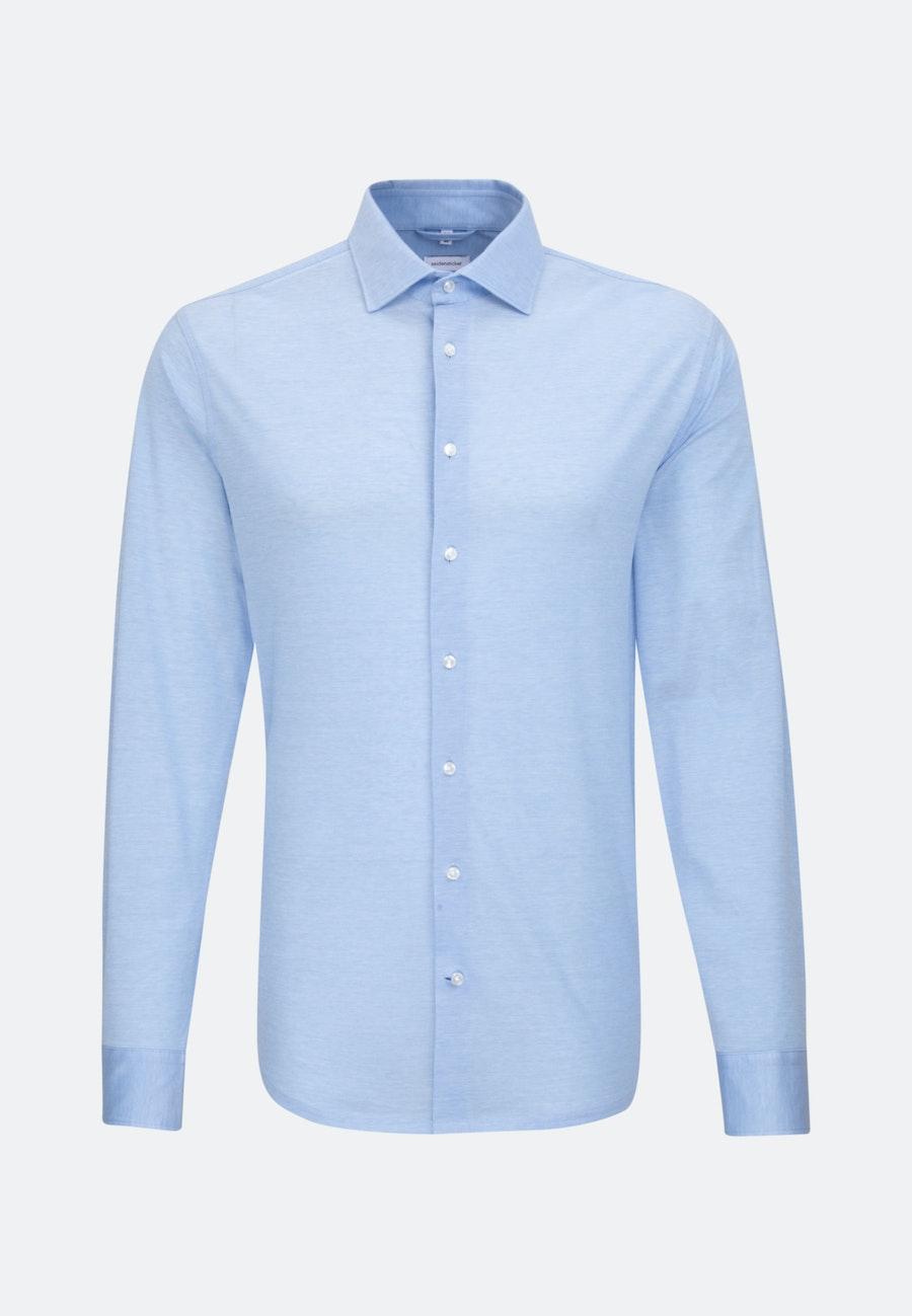Jerseyhemd in Slim mit Kentkragen in Hellblau |  Seidensticker Onlineshop