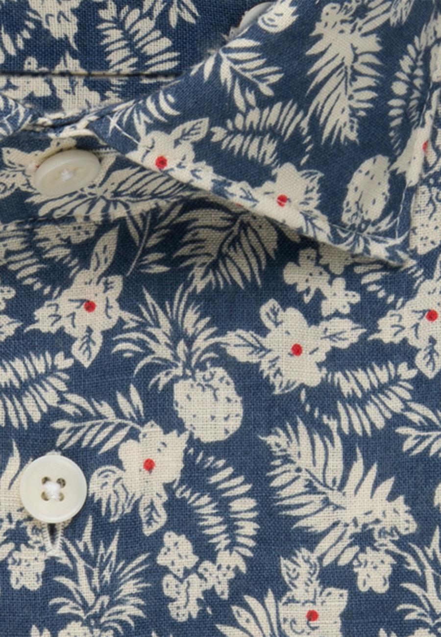 Leinen Leinenhemd in Slim mit Kentkragen in Braun    Seidensticker Onlineshop