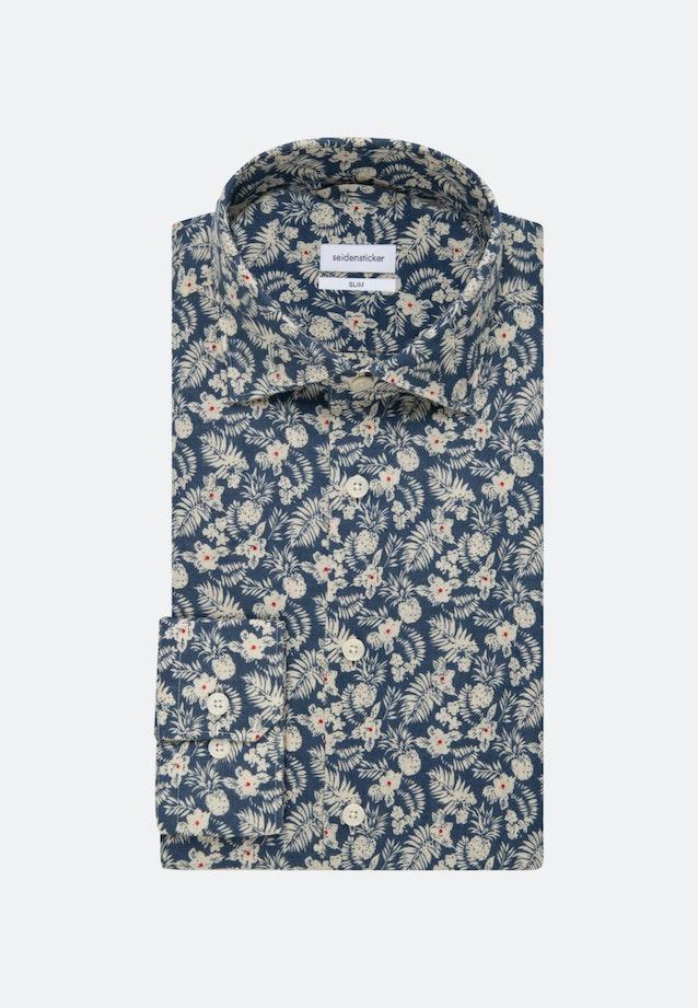 Easy-iron Leinen Business Shirt in Slim with Kent-Collar in Brown |  Seidensticker Onlineshop