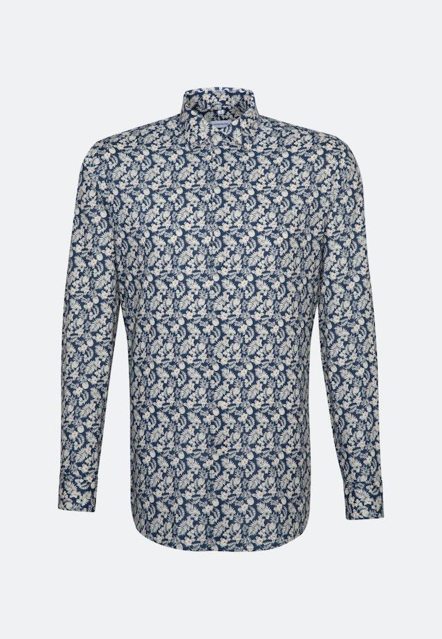 Bügelleichtes Leinen Business Hemd in Slim mit Kentkragen in Braun |  Seidensticker Onlineshop