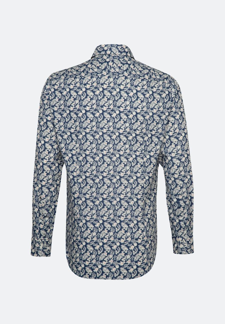 Easy-iron Linen Business Shirt in Slim with Kent-Collar in Brown    Seidensticker Onlineshop