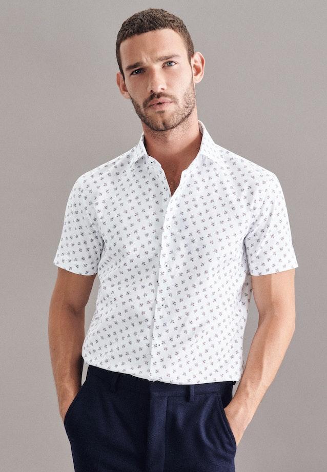 Bügelleichtes Oxford Kurzarm Business Hemd in Slim mit Kentkragen in Weiß |  Seidensticker Onlineshop