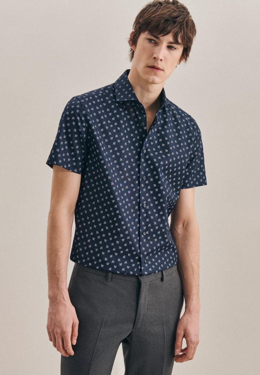 Oxfordhemd in Slim mit Kentkragen in Dunkelblau |  Seidensticker Onlineshop