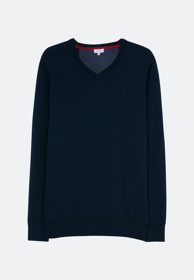 V-Neck Pullover made of 100% Cotton in Dark blue |  Seidensticker Onlineshop
