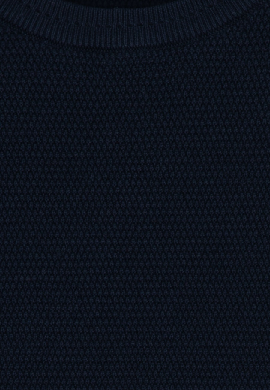 Rundhals Pullover aus 100% Baumwolle in Dunkelblau    Seidensticker Onlineshop