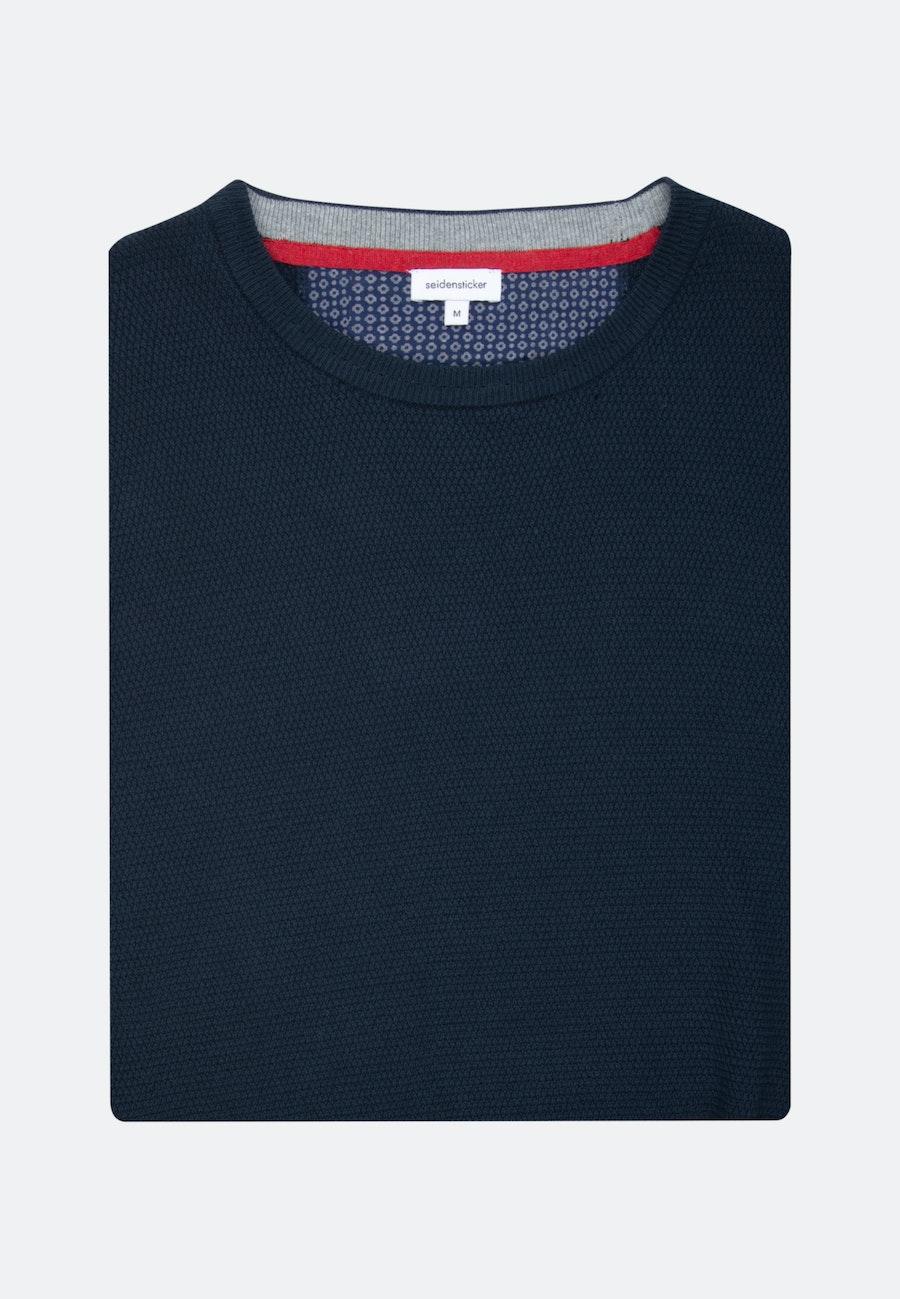 Crew Neck Pullover made of 100% Cotton in Dark blue |  Seidensticker Onlineshop