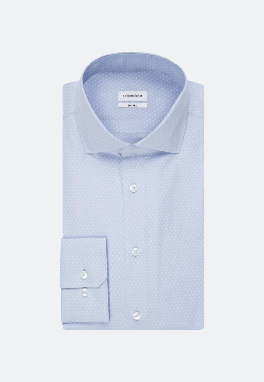 Bügelleichtes Oxford Business Hemd in Shaped mit Kentkragen und extra langem Arm in Hellblau |  Seidensticker Onlineshop