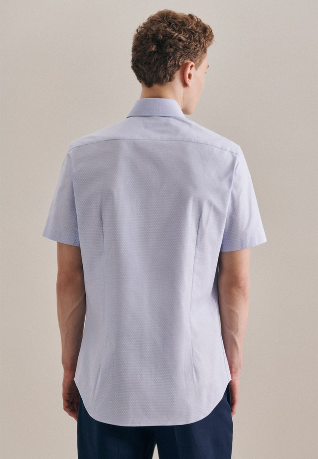 Easy-iron Oxford Short sleeve Business Shirt in Slim with Kent-Collar in Light blue |  Seidensticker Onlineshop