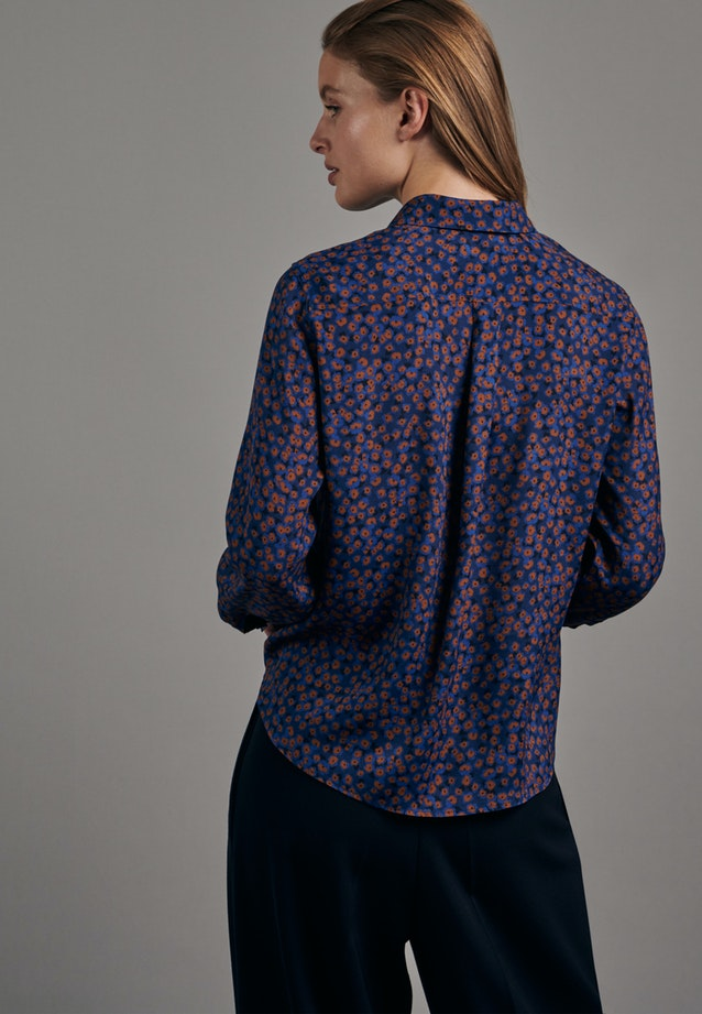 Poplin Shirt Blouse made of 100% Viscose in Medium blue |  Seidensticker Onlineshop