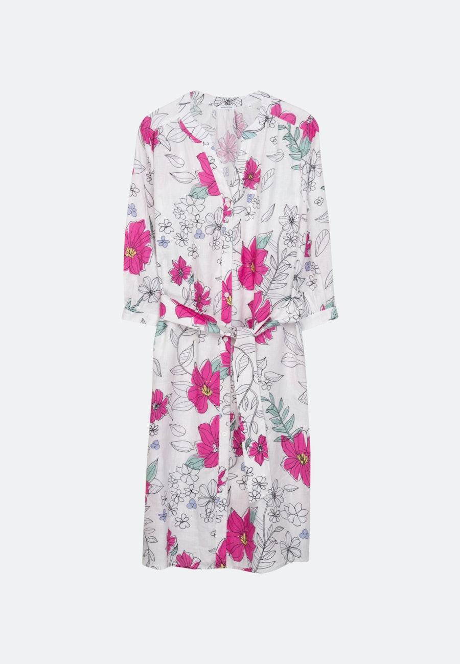 Leinen Midi Kleid aus 100% Leinen in Rosa/Pink |  Seidensticker Onlineshop