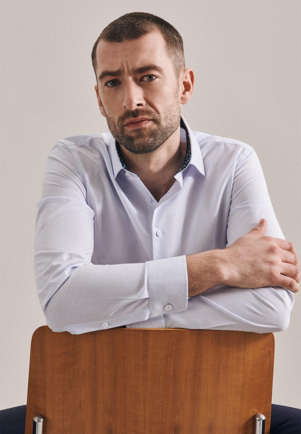 Bügelfreies Popeline Business Hemd in Slim mit Kentkragen in Hellblau    Seidensticker Onlineshop