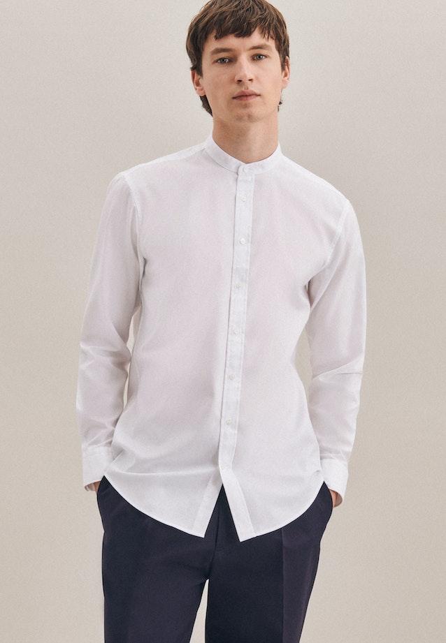 Bügelfreies Twill Business Hemd in Regular mit Stehkragen in Weiß |  Seidensticker Onlineshop