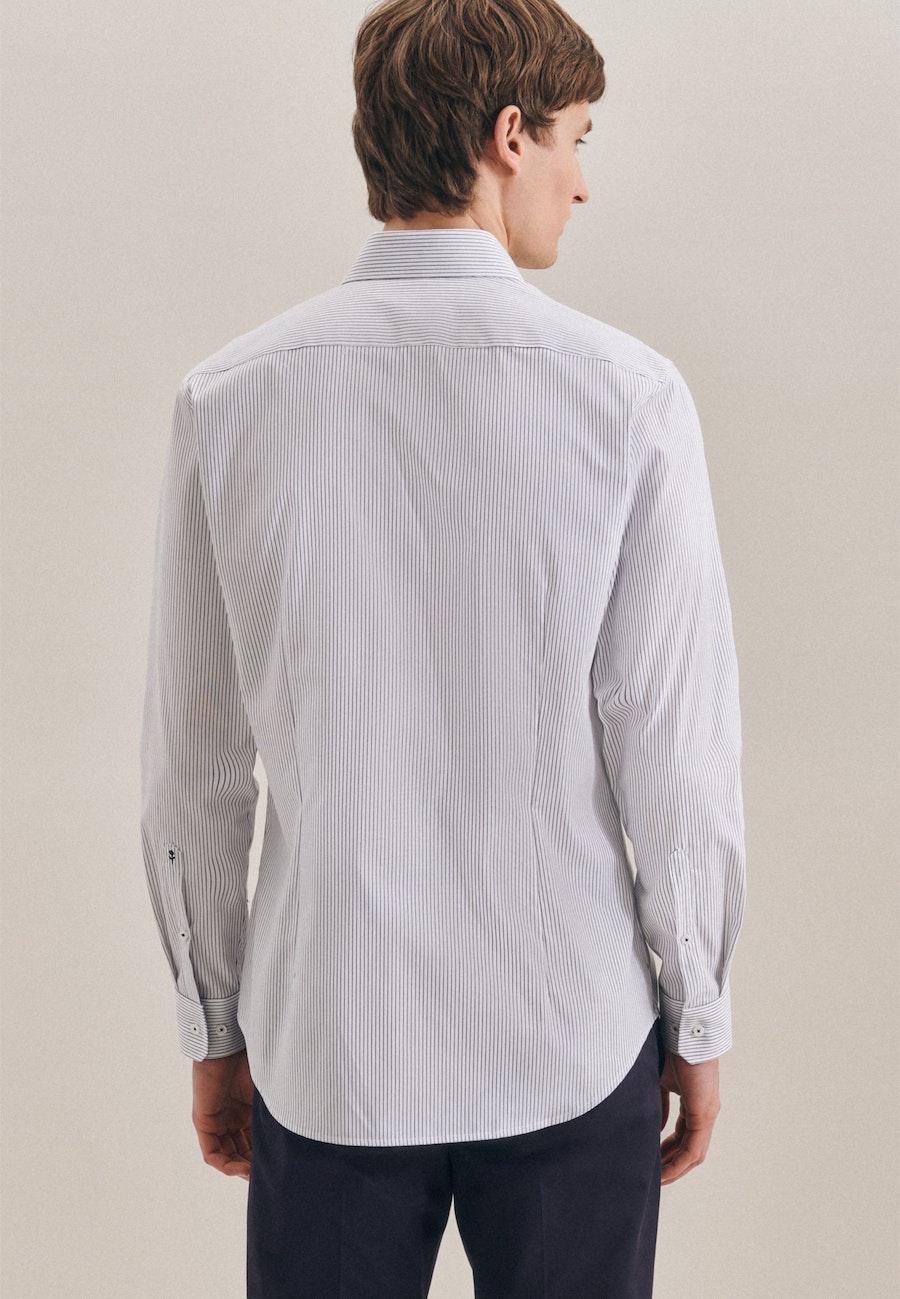 Bügelfreies Oxfordhemd in Shaped mit Kentkragen in Dunkelblau |  Seidensticker Onlineshop