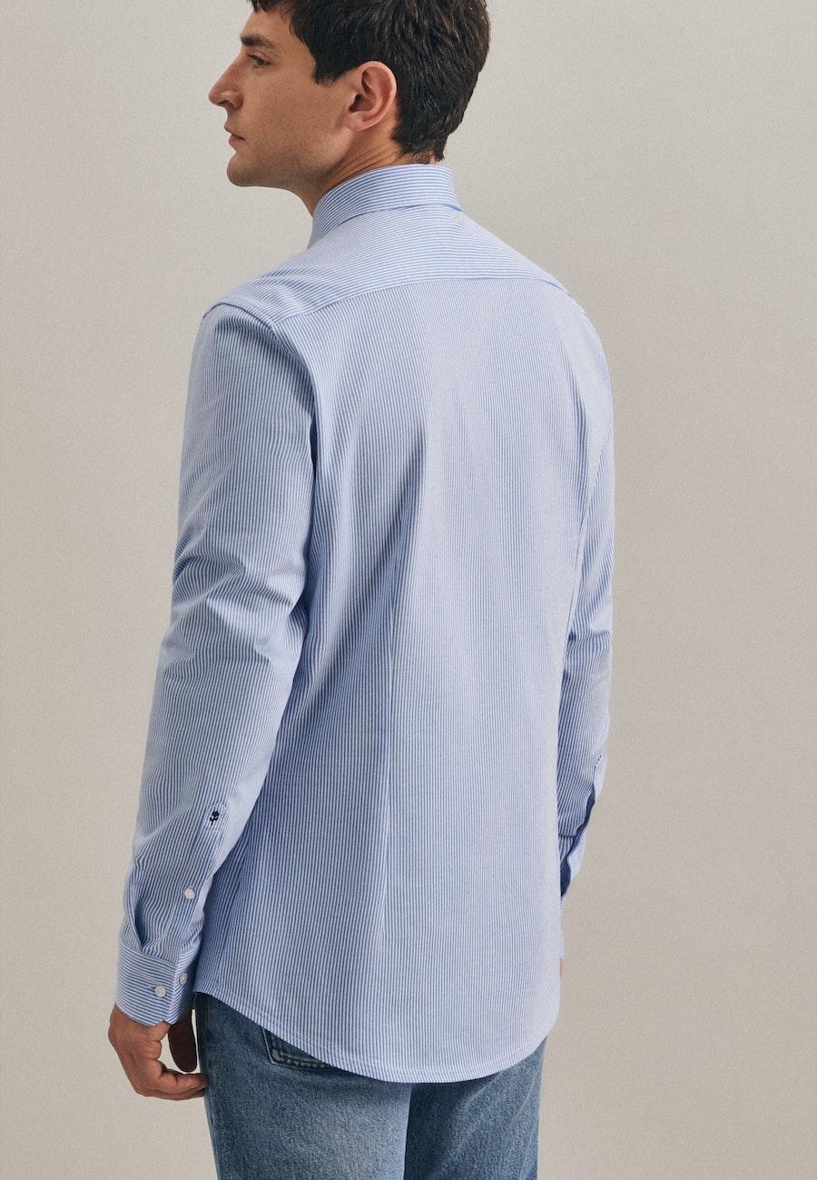 Jerseyhemd in Shaped mit Kentkragen in Hellblau    Seidensticker Onlineshop