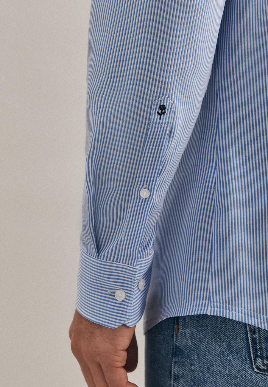 Jersey Business Hemd in Shaped mit Kentkragen in Hellblau |  Seidensticker Onlineshop